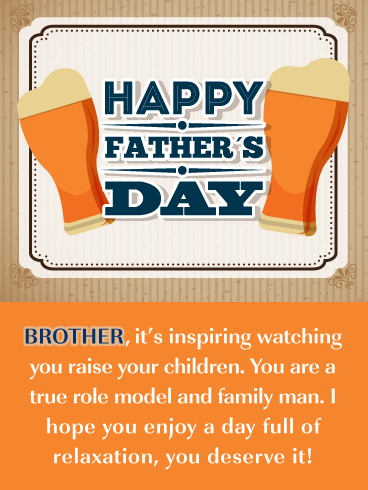 Role Model - Happy Father's Day Card for Brother