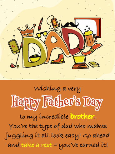 Easygoing Dad - Happy Father's Day Card for Brother