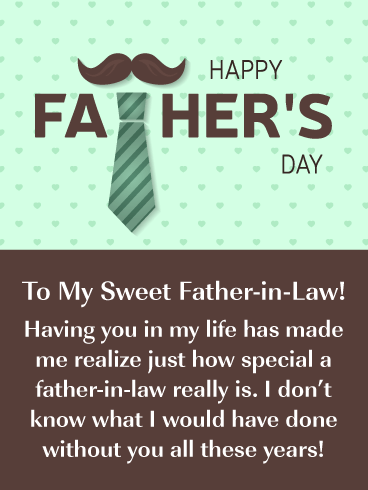 You're so Sweet! - Happy Father's Day Card for Father-in-Law