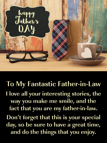 It's Your Day - Happy Father's Day Card for Father-in-Law