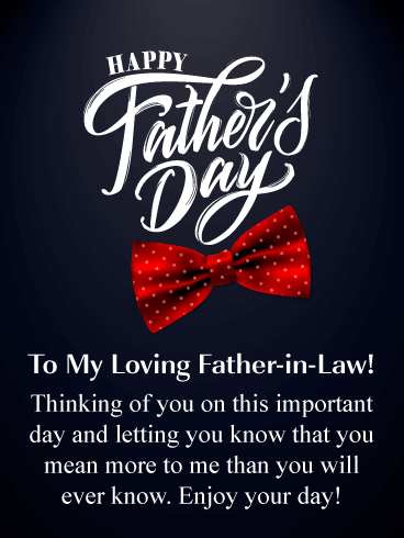 Red Bow Tie - Happy Father's Day Card for Father-in-Law