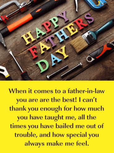 Dad's Tools - Happy Father's Day Card for Father-in-Law