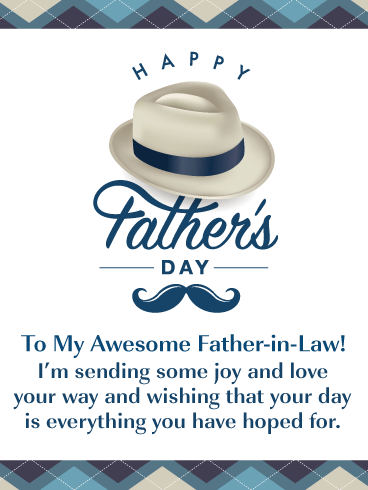 You're Awesome! - Happy Father's Day Card for Father-in-Law