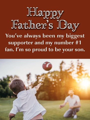 Happy Father's Day. You've always been my biggest supporter and my number #1 fan. I'm so proud to be your son.