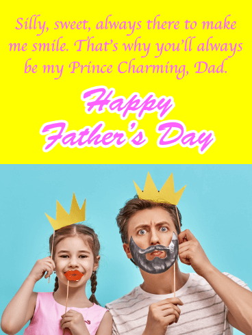 Silly & Sweet - Happy Father's Day Card from Daughter