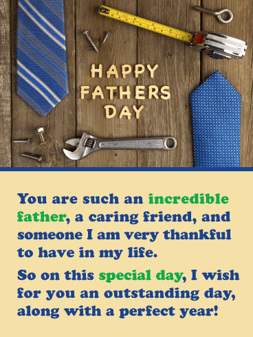 Thankful for You - Happy Father's Day Card for Friends