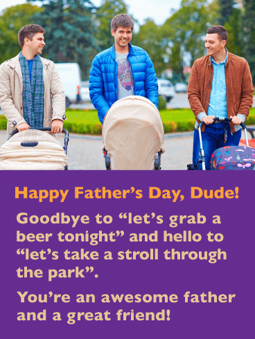 Guys Day Out - Happy Father's Day Card for Friends