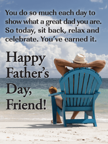 Savor Every Moment - Happy Father's Day Card for Friends