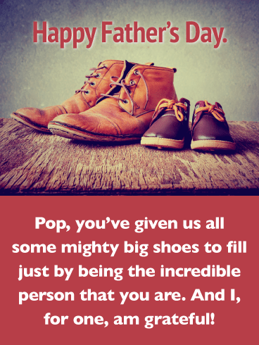Big Shoes to Fill- Happy Father's Day Card from Son