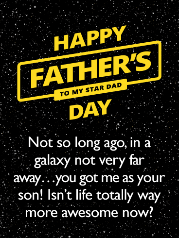 You're a Star Dad- Happy Father's Day Card from Son