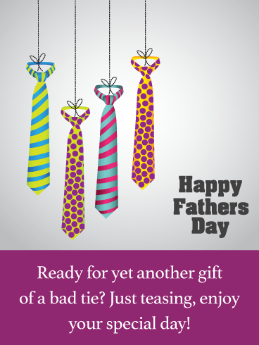 Another Bad Tie- Funny Father's Day Card from Son
