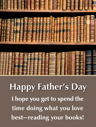 Love to Read- Happy Father's Day Card from Son