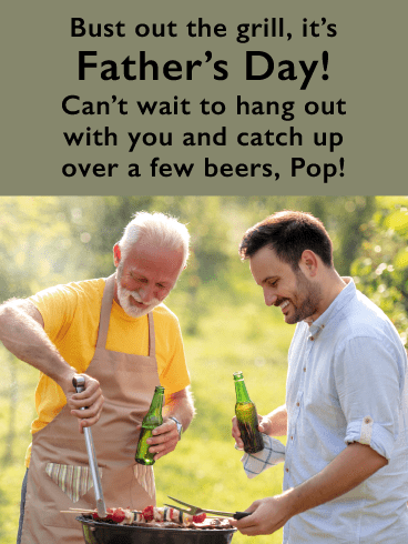 Grill Chats- Happy Father's Day Card for Son
