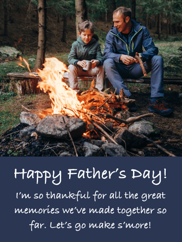 Warm Memories- Happy Father's Day card from Son
