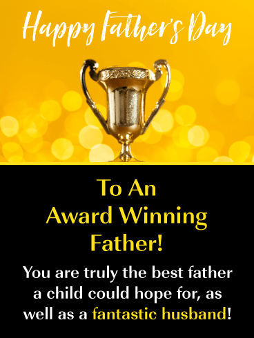 You're a Winner - Happy Father's Day Card for Husband