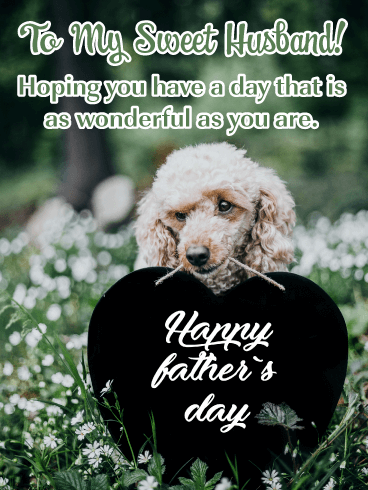 Adorable Dog - Happy Father's Day Card for Husband