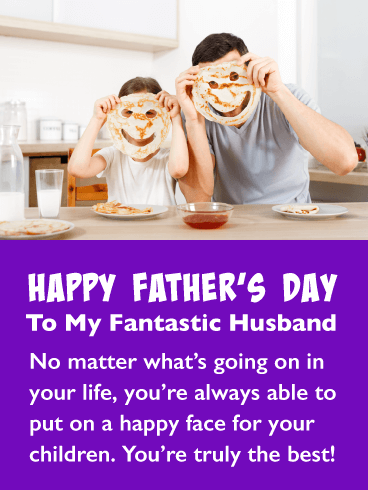 Pancake Smiles - Happy Father's Day Card for Husband