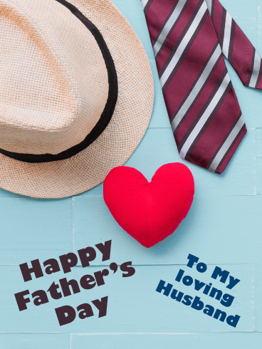 Tie & Hat - Happy Father's Day Card for Husband