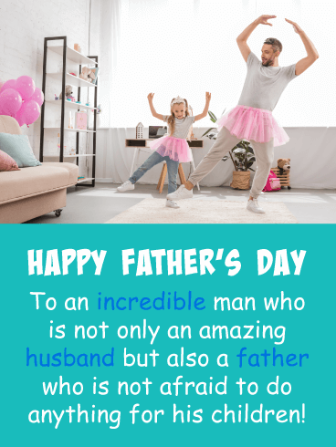 Anything for Your Kids - Happy Father's Day Card for Husband