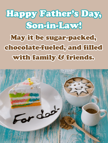 Sugar-Packed - Happy Father's Day Card for Son-in-Law