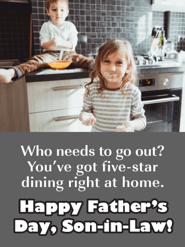 Five-star Dining - Happy Father's Day Card for Son-in-Law