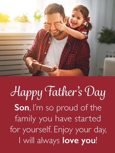 Proud Parent - Happy Father's Day Card for Son