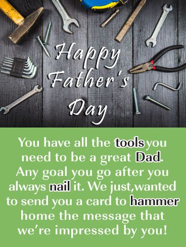 Handy Man Dad - Funny Father's Day Card for Son | Birthday & Greeting Cards  by Davia