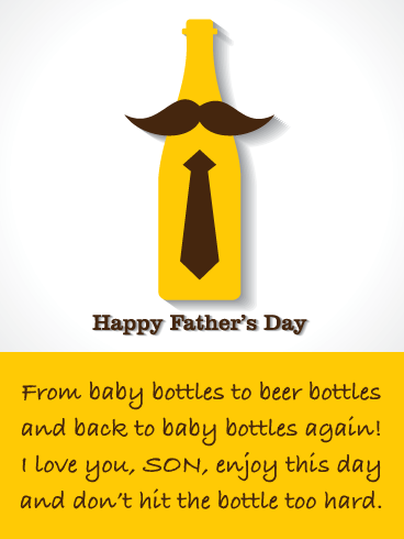 Hit the Bottle - Funny Father's Day Card for Son