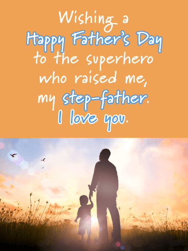 My Superhero - Happy Father's Day for Step-Father
