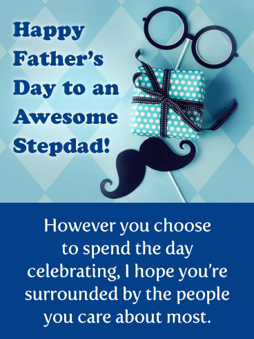 To an Awesome Stepdad!- Happy Father's Day Card for Step-Father