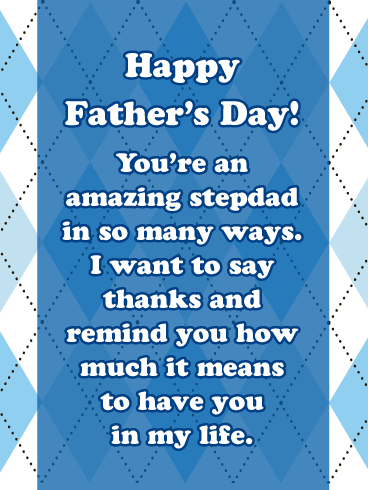 You've re Amazing Stepdad-Happy Father's Day Card for Step-Father