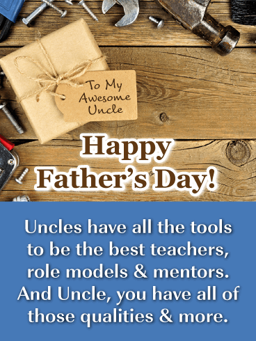 Happy Father's Day! Uncles have all the tools to be the best teachers, role models & mentors. And uncle, you have all of those qualities & more.