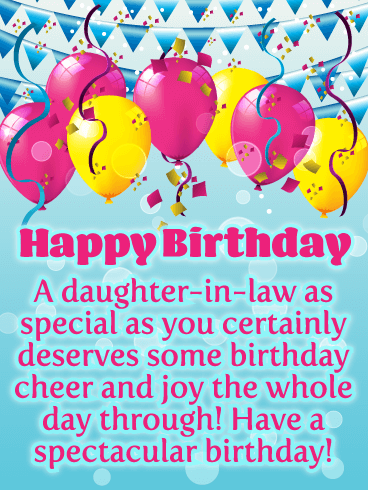 Celebration Cheer - Happy Birthday Card for Daughter-in-Law