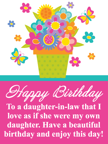 Happy Birthday Card For Daughter In Law