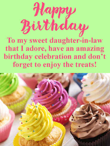 Enjoy the Treats! Happy Birthday Card for Daughter-in-Law