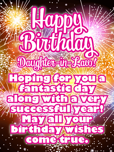 Happy Birthday Daughter In Law Messages With Images Birthday