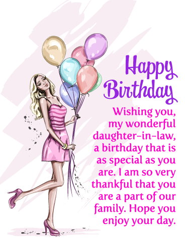 Wishing You My Wonderful Daughter In Law A Birthday