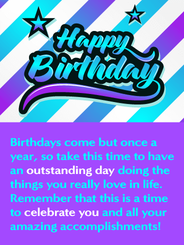 Celebrating You - Happy Birthday Card