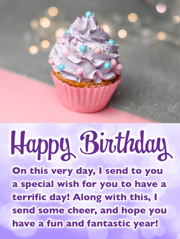 Celebration Cupcake - Happy Birthday Card