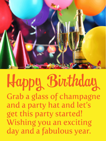 Let's Get This Party Started - Happy Birthday Card
