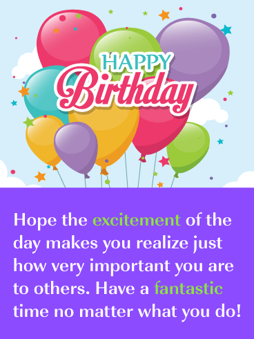 Colorful Balloons - Happy Birthday Card