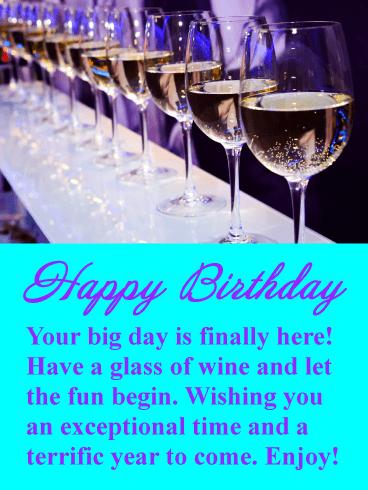 Enjoy The Wine Happy Birthday Card