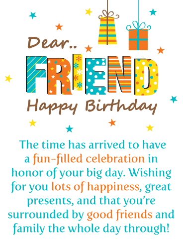 Your Big Day! Happy Birthday Card for Friends