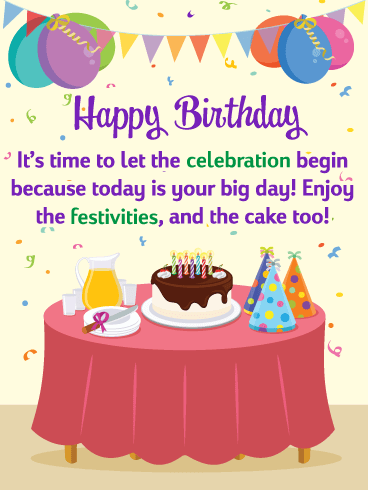 Enjoy the Cake - Happy Birthday Card for Friends