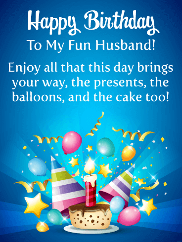 Enjoy the Cake! Happy Birthday Card for Husband