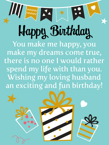 Life with You - Happy Birthday Card for Husband