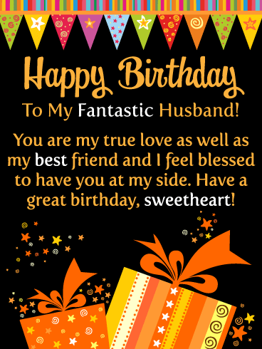 You're My True Love - Happy Birthday Card for Husband