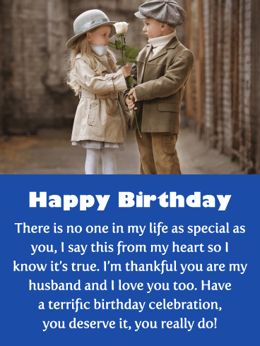 Thankful for You - Happy Birthday Card for Husband