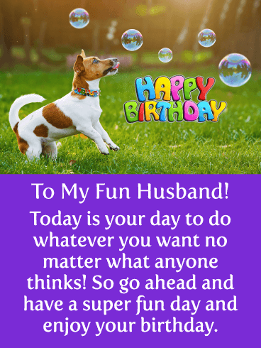 Time for Fun! Happy Birthday Card for Husband