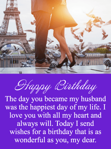 Happiest Day - Happy Birthday Card for Husband